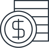 dollar icon signifying your savings due to property management