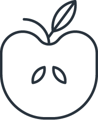 apple icon signifying a healthy lifestyle due to property management