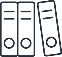 an icon of a stack of folders