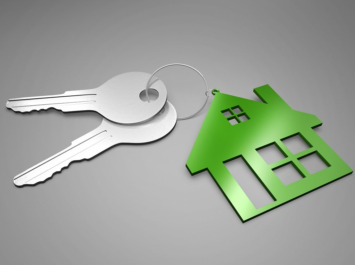 house keychain with two keys