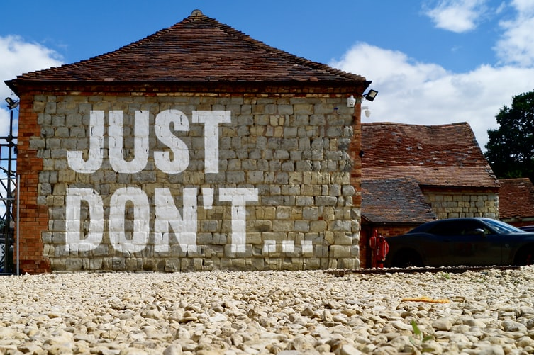just don't written on a wall