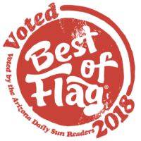 Bagde indicating that Homevault was voted 'Best in Flagstaff Property Management in 2018