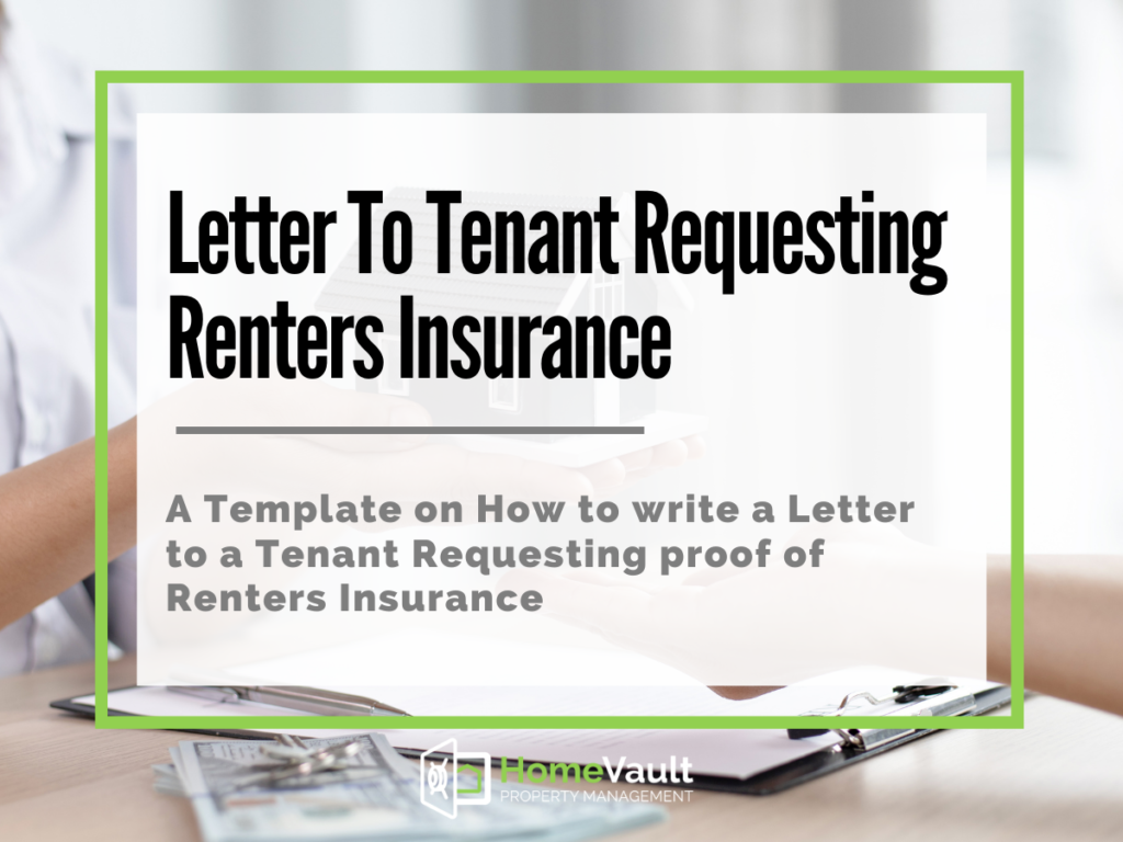letter to tenant requesting renters insurance
